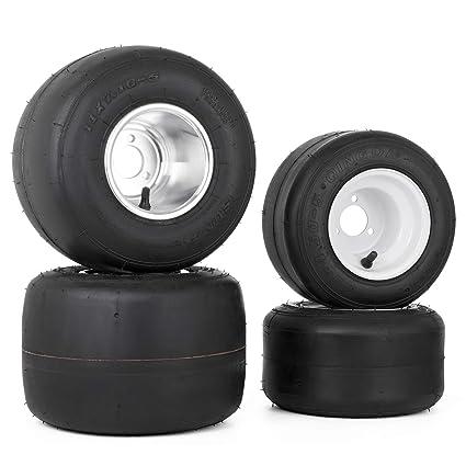 amazon com bestauto go kart tires and rims 10x4 5 5 front 11x7 1 5amazon com bestauto go kart tires and rims 10x4 5 5 front 11x7 1 5 rear go kart wheels and tires 3 hole go kart tires rims wheels sets of 4 automotive