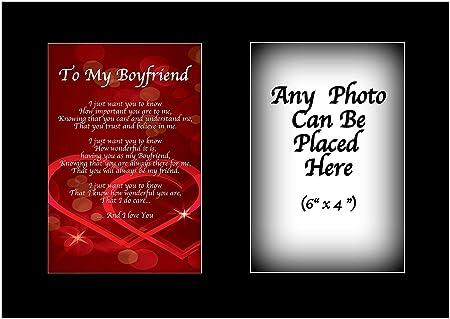 A mi novio poema personalizable con cualquier foto día de ...