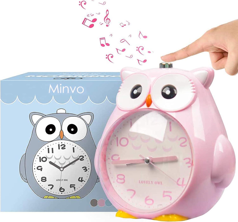 Zkah silenziosa con luce Snooze per camera da letto sveglia da viaggio per bambini sveglia per bambini senza ticchettio sveglia analogica
