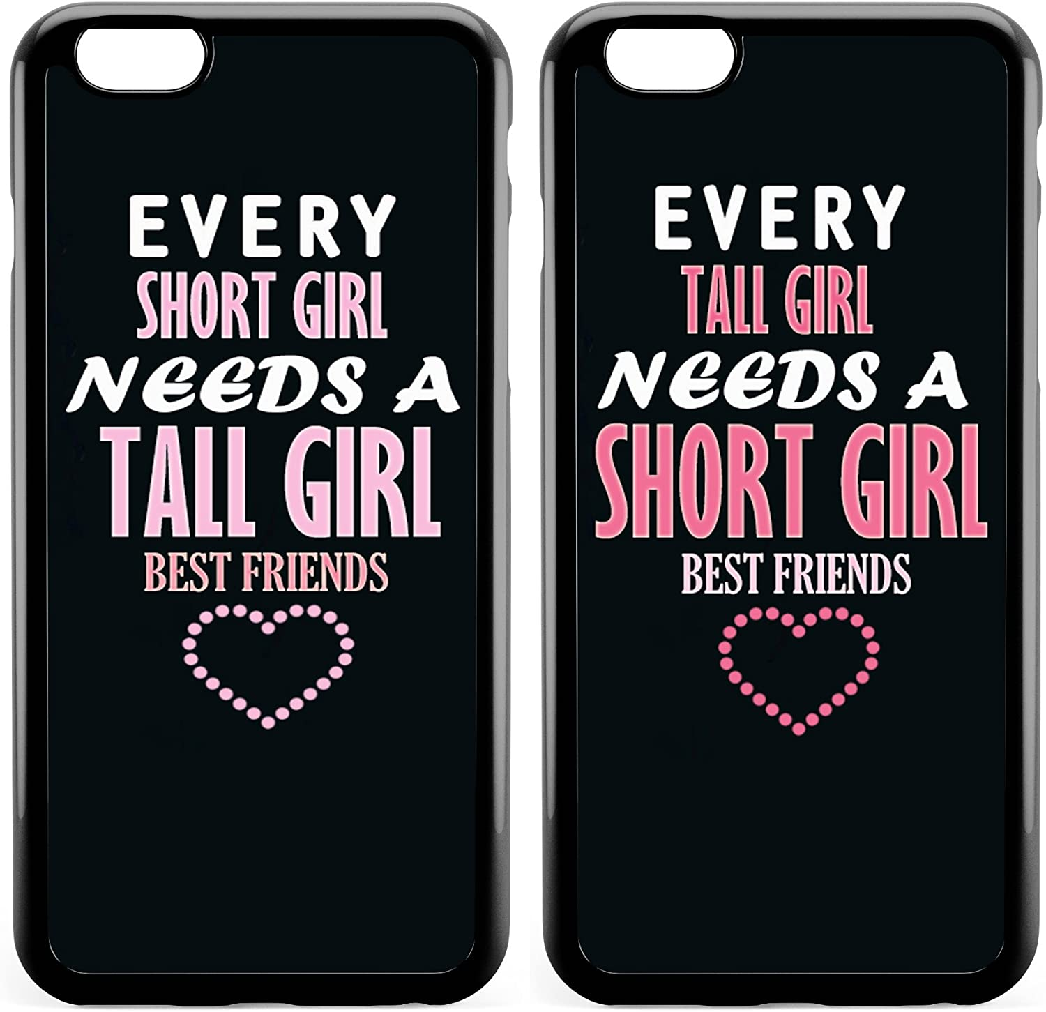 Amazon Com Iphone 8 7 Se 2020 Bff Case Cute Funny Best Friends Forever Sister Cousins Couple Every Short Girl Needs A Tall Girl Sisters Matching Pink Funny Love Soft Black Case Compatible For Iphone 7 8 Se