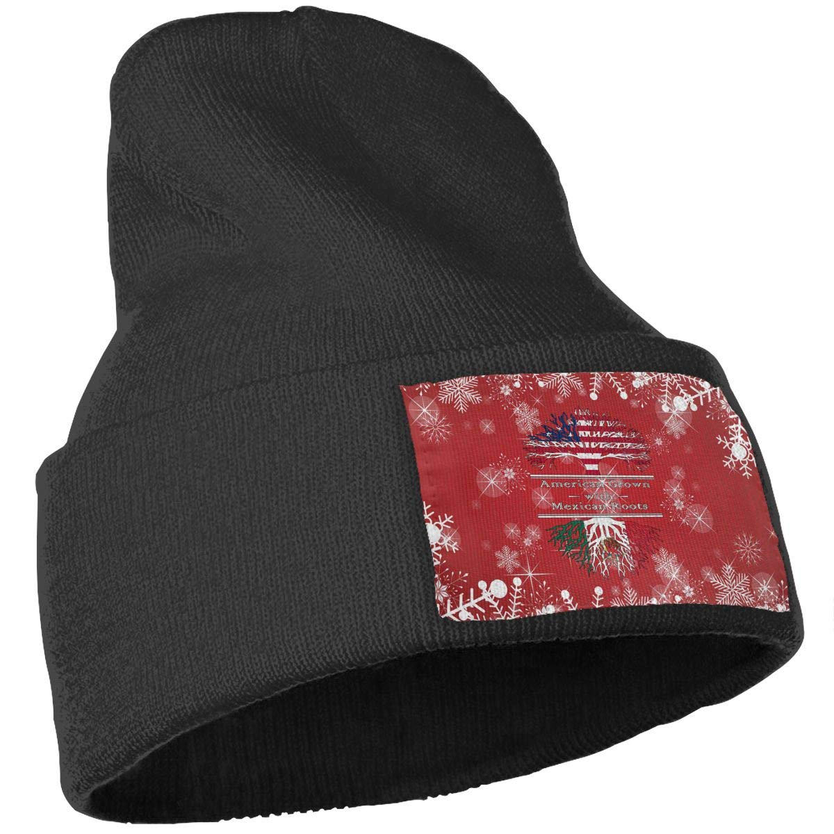 American Grown Mexican Roots-3 Men Women Knit Hats Stretchy /& Soft Ski Cap Beanie