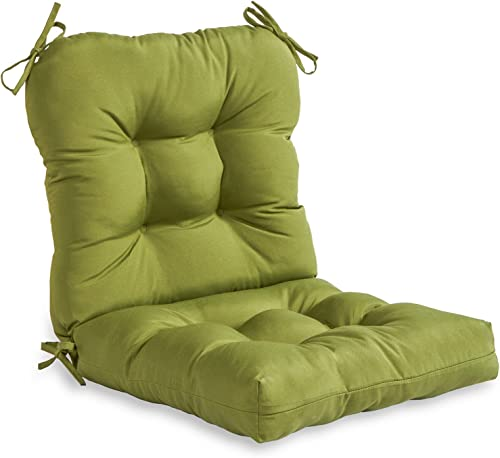 Greendale Home Fashions AZ4808-HUNTERGREEN Juniper 38'' x 21'' Outdoor Seat/Back Chair Cushion