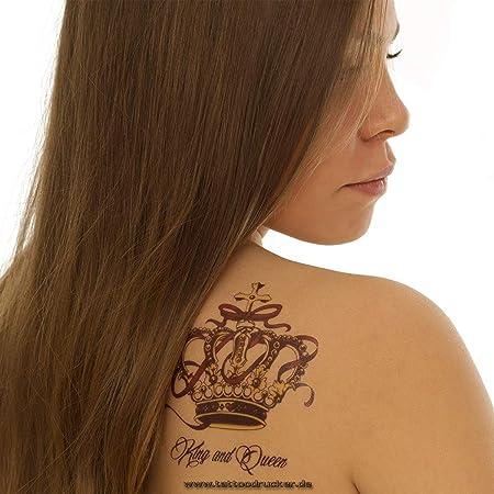 QS-C030 - Juego de 3 Coronas para Tatuajes temporales, carbón, 1 x ...