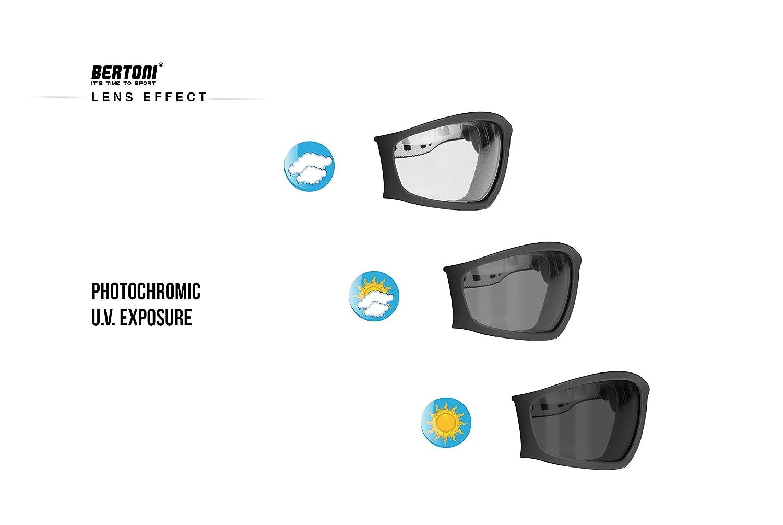 Elastico Regolabile per Casco Maschera Moto Fotocromatica Antiappannante F120A Italy Antivento e Antisudore Bertoni Occhiali Moto Fotocromatici