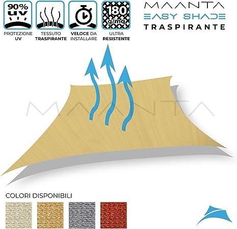 Maanta EasyShade Tende a Vela OmbreggianteEasyShade Breathable-HDPE 180gr//sqm 3x4 Metri Avorio
