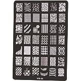 XLORDX Nail Art Plates Stamping Nagel Bildstempel Schablone Metallplatten Nagel Tattoo Manicure Halloween Weihnachten XMAS DIY WB05