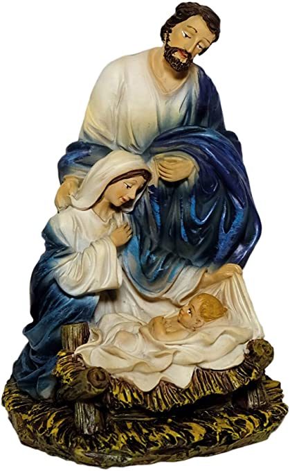 Kaltner Prasente Gift Idea Decorative Figure Holy Family Mary Joseph With Jesus Child Nativity Scene Block Hand Painted Height 15 Cm Amazon Co Uk Kitchen Home