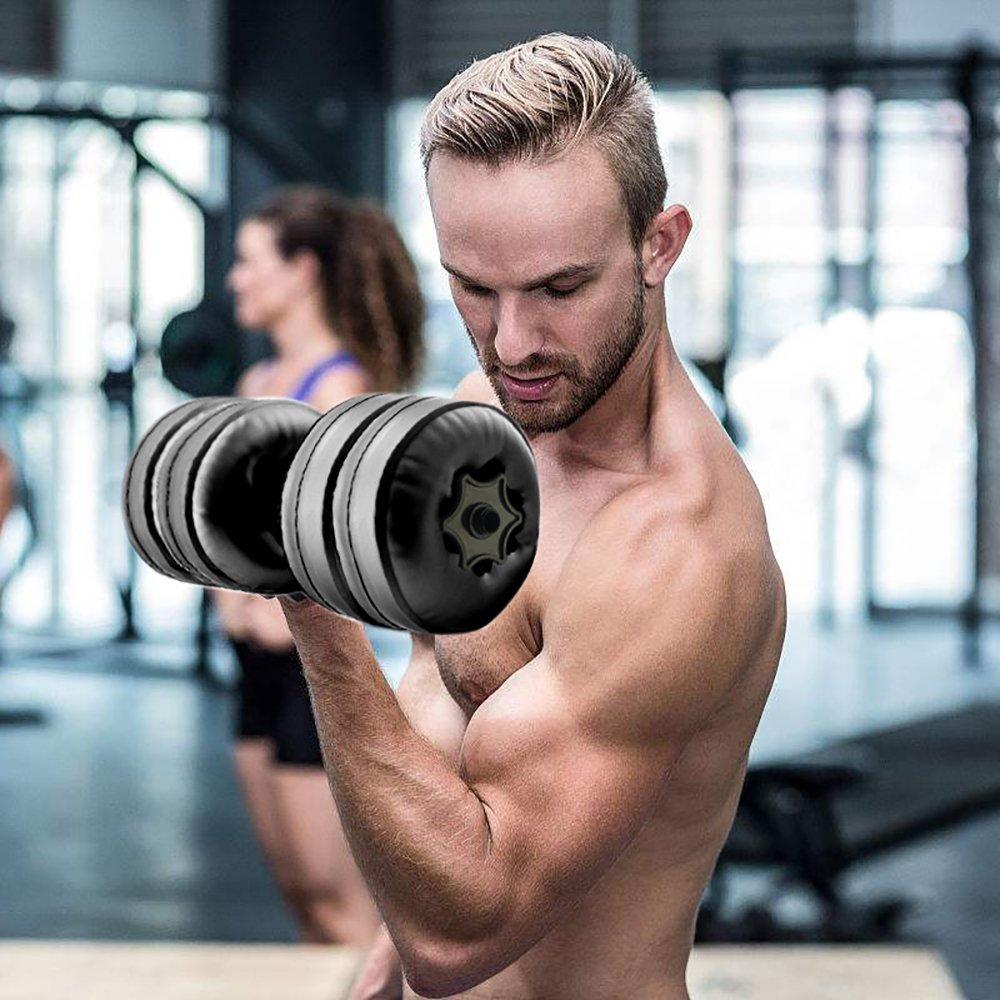 YTBLF - Mancuerna de Seguridad para Fitness con Relleno de Agua para Hombre y Mujer, Brazo de Ejercicio Muscular para el hogar, 16 - 20 kg: Amazon.es: ...