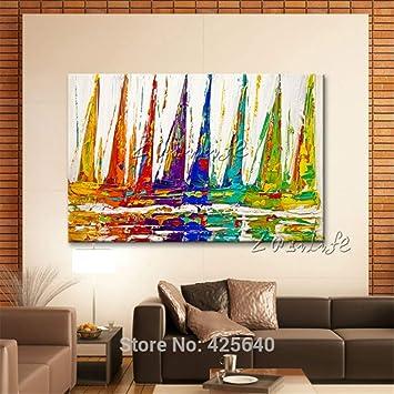 Gbwzz Handgemalte Leinwand Ölgemälde Wandkunst Bilder für Wohnzimmer ...