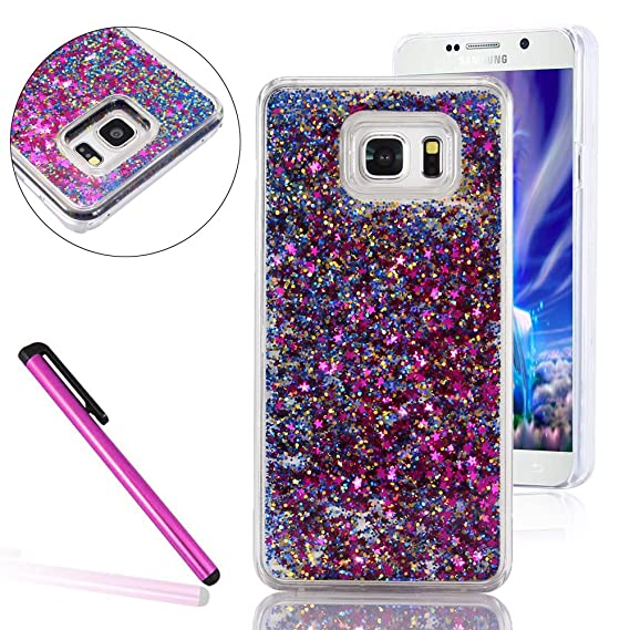 pretty nice 37474 9656a Samsung Galaxy Note 5 Glitter Case,LEECO Galaxy Note 5 Cover 3D Quicksand  Glitter Flowing Liquid Floating Moving Hard Protective Case Cover for ...