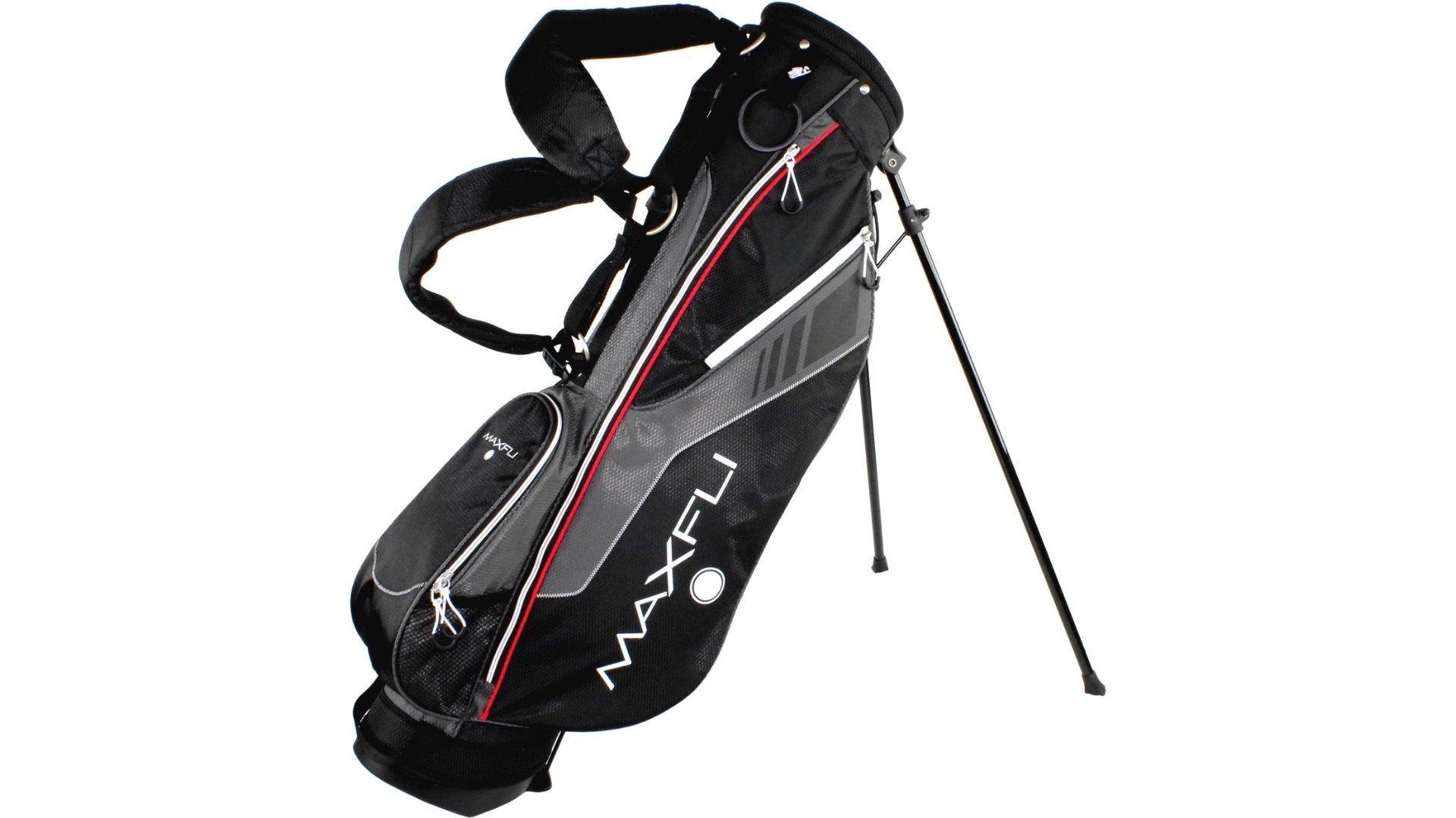 Maxfli Golf Club Sunday Stand Bag - Black/Grey
