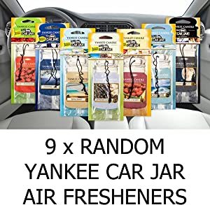 Yankee Candle Amazing Value Pack 9 x Assorted Car Jar Air Hanging Air Fresheners