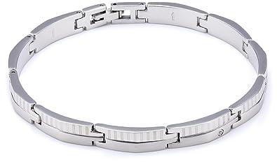 nouveau produit 210eb ce4dd Morellato - SKR04 - Cross - Bracelet Homme - Acier - Diamant ...