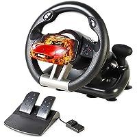 Serafim R1+ racewiel - gaming-stuurwiel met responsief pedaal - compatibel met XBOX ONE, PS4, PS3, Switch, PC, iOS…