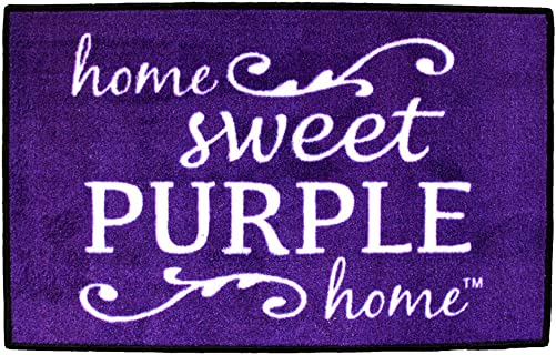 Home Sweet Purple Home Door Mat