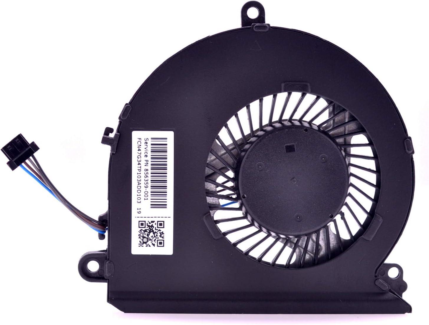 PartEGG CPU Cooling Fan Replacement for HP Pavilion 15-AU 15AU 15-AW 15T-AU 15Z-AW 15-AW000 15-AU000NR 856359-001