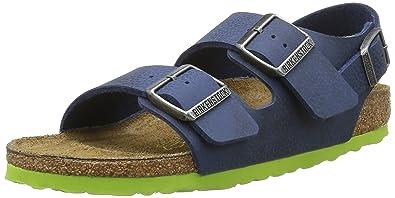 Birkenstock Milano Backstrap Sandals Kids Birko flor Nebula Blue narrow fit