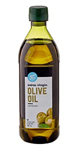 Amazon Brand - Happy Belly Extra Virgin Olive Oil, Mediterranean Blend, 16.9 Fl Oz (500mL) (Previously Solimo)
