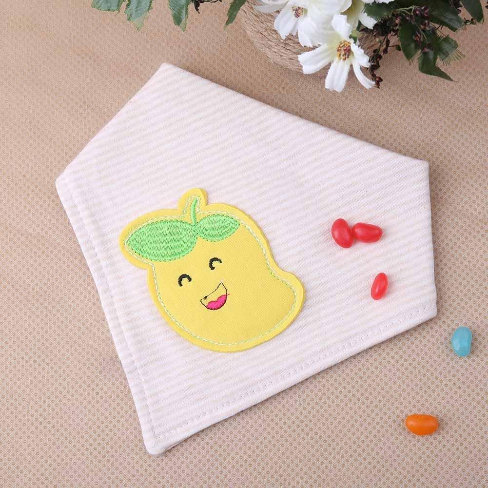 Silveroneuk - Toalla de saliva para bebé con doble bordado de algodón ajustable Mango Talla:talla única: Amazon.es: Bebé