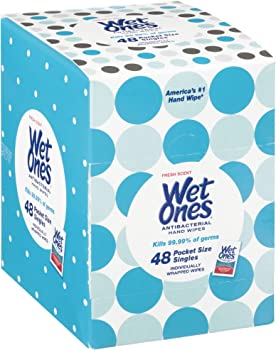 Wet Ones Fresh Scent 48 Count Antibacterial Hand Wipes Singles