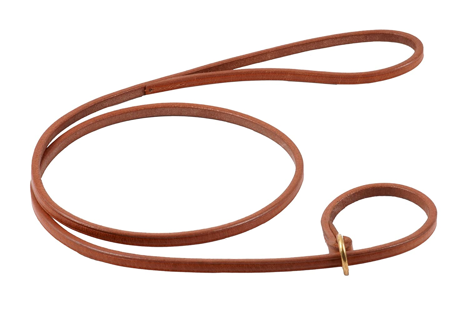 Tan Alvalley Flat Slip Lead for Dogs 3 16 in x 4ft