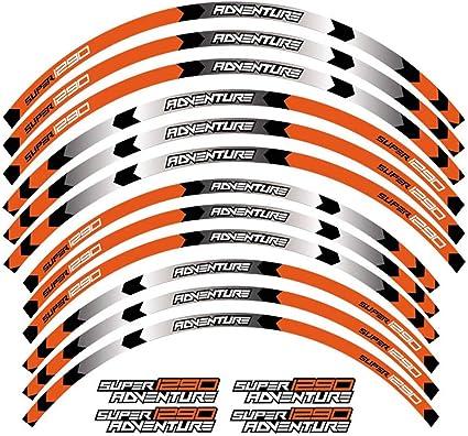 pour KTM 1290 Adventure Pass Bike Label 710041 Autocollant pour Jante avec Jante