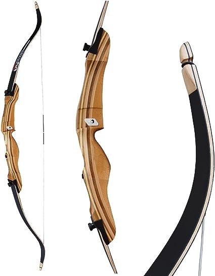 Einsteigerbogen Core Hit 62-70 Zoll 20-34 lbs Recurvebogen mit Spannschnur