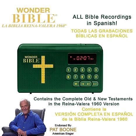 Amazon.com: Wonder Bible RVR60- The Audio Bible Play That Speaks in Spanish (La Biblia Reina-Valera 1960), As Seen on TV: Electronics