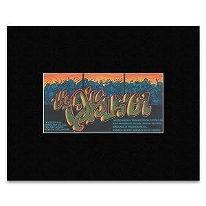Van Morrison Black Pearl - Avalon Ballroom San Francisco 1969 Matted Mini Poster - 30.3x25.4cm