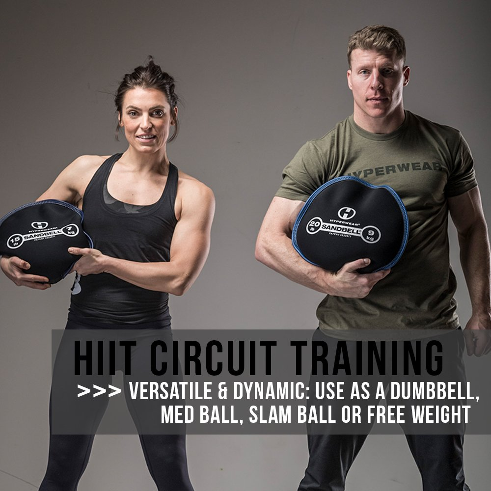 Hyperwear SandBell Sandbag Training Free Weight (Pre-filled)