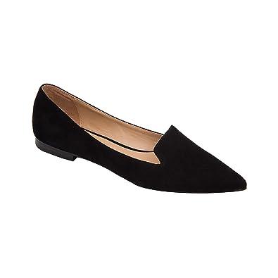 19ed3d2e9e Linea Paolo | Portia | Stud Adorned Suede Slip-On Moc Slipper Comfortable  Flat