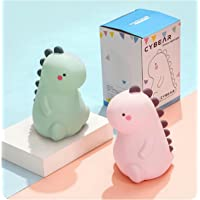 CYBEAR Cute Dinosaur LED Baby Night Light - Childrens Bedside Table Lamp, Rechargable, Touch Tap RGB Colour Control…