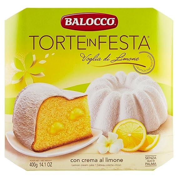 Balocco Tartas Pasquale Cream Limón y azúcar en polvo 400 GR - Festive Cakes Lemon Desire