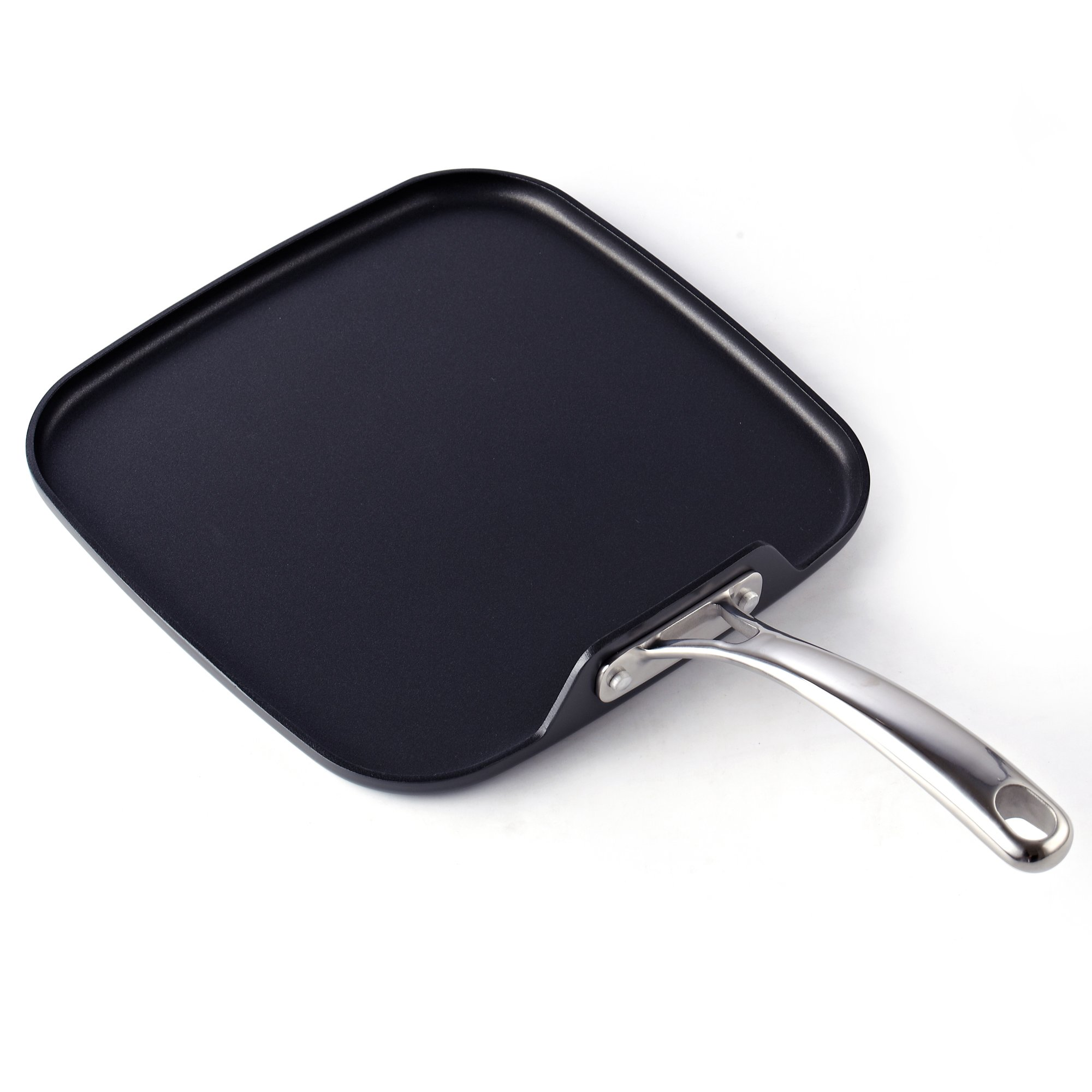 Cooks Standard Hard Anodized Nonstick Square Griddle Pan, 11 x 11-Inch, Black by Cooks Standard