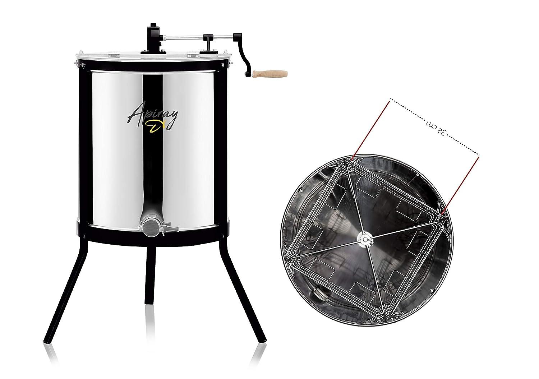 Apiray, Dadant 4, extractor de miel, 4 marcos de centrifugado de miel, extractor de miel de acero inoxidable