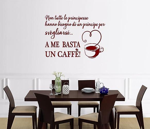 ADESIVI MURALI FRASE Caffè CUCINA DECORAZIONI DA PARETE WALL ...