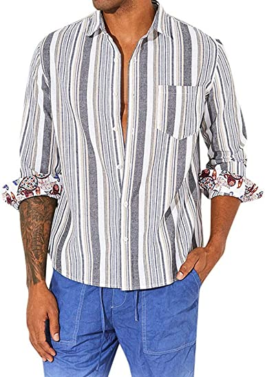 routinfly Camisetas Casual de Hombre. Camisa de Manga Larga ...