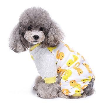 Ropa para Mascotas, Legendog Pet Jumpsuit Cartoon Impreso Ropa para Mascotas de Algodón Pijamas para