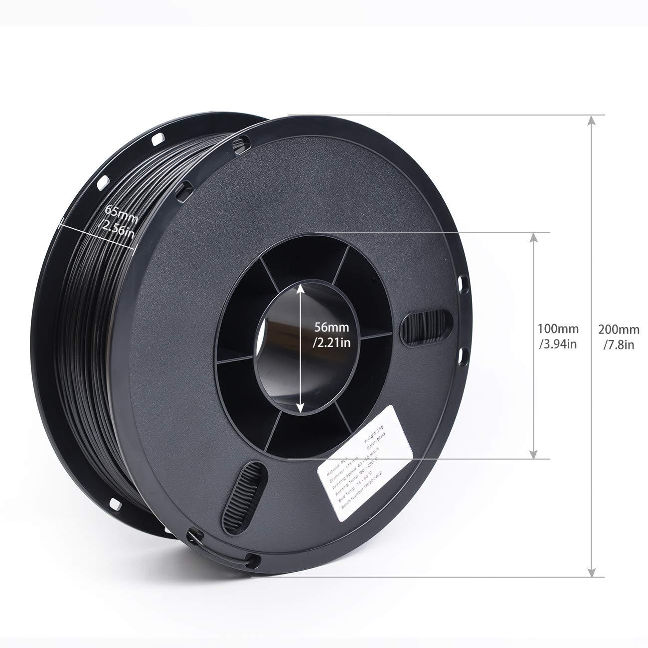 PLA filamento de impresora 3D de 1,75 mm, calidad alimentaria ...