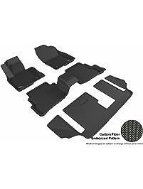 3D MAXpider L1MZ05701509 Black All-Weather Floor Mat for Select Mazda Cx-9 Models Complete Set
