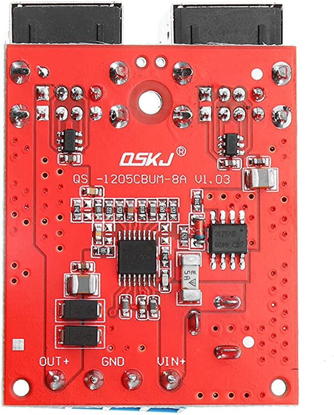 ILS DC8V-35V 5V 8A Potencia Step Down Cargador tel/éfono m/óvil Coche M/ódulo 4 Puertos USB soporta Carga r/ápida