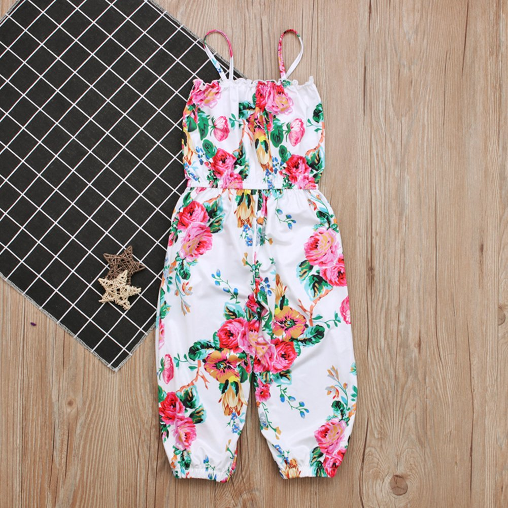 c3716145a1f0 Amazon.com  KIDSA 2-7T Baby Toddler Little Girls One-Pieces Floral Corset  Romper Jumpsuit Harem Pants  Clothing