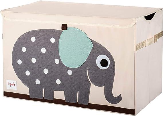 3 Sprouts - Coffre à jouets pour enfants - Coffre de rangement pour la chambre des garçons et des filles, éléphant: Amazon.fr: Bébés & Puériculture