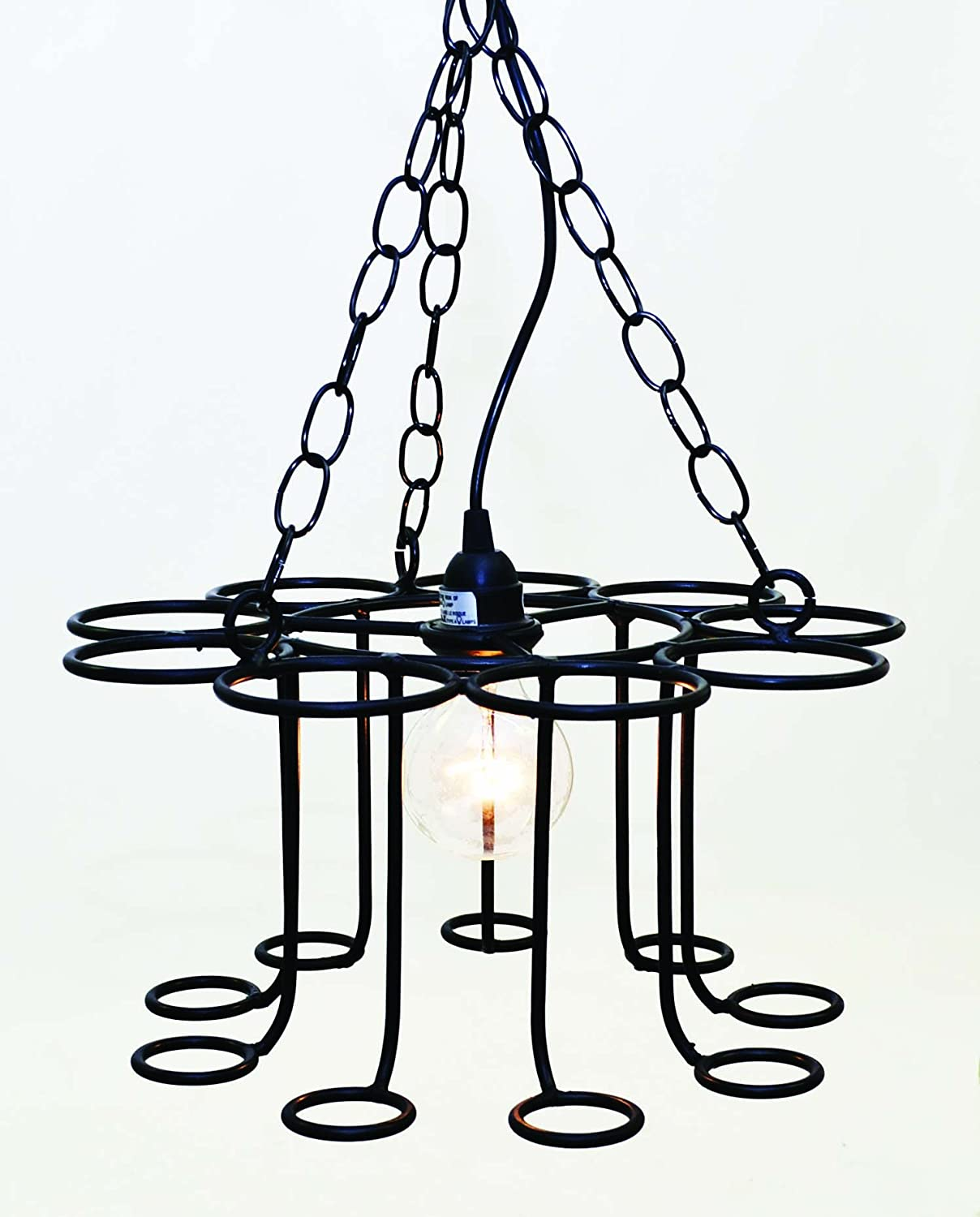 Socket Set Chandelier has 15 Feet of Cord and Plugs into any Standard Outlet