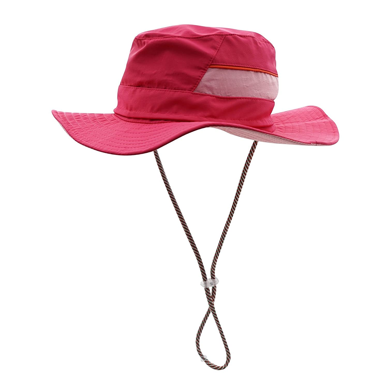 Decentron Men's Sun Hat UPF50 Wide Brim Quick Dry Boonie Hat Mesh Top Safari Hat DC059-BU