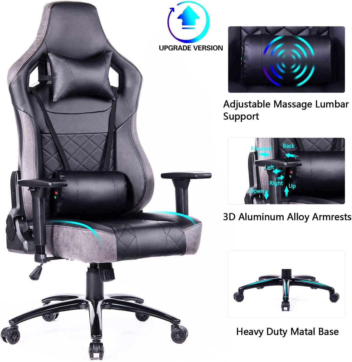 Blue Whale Big and Tall Gaming Chair
