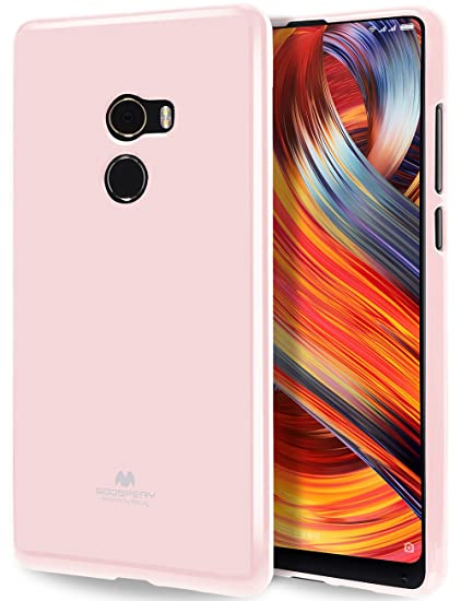 los angeles 7fb24 7a114 GOOSPERY Marlang Marlang Xiaomi Mi Mix 2 Case - Baby Pink, Free Screen  Protector [Slim Fit] TPU Case [Flexible] Pearl Jelly [Protection] Bumper  Cover ...