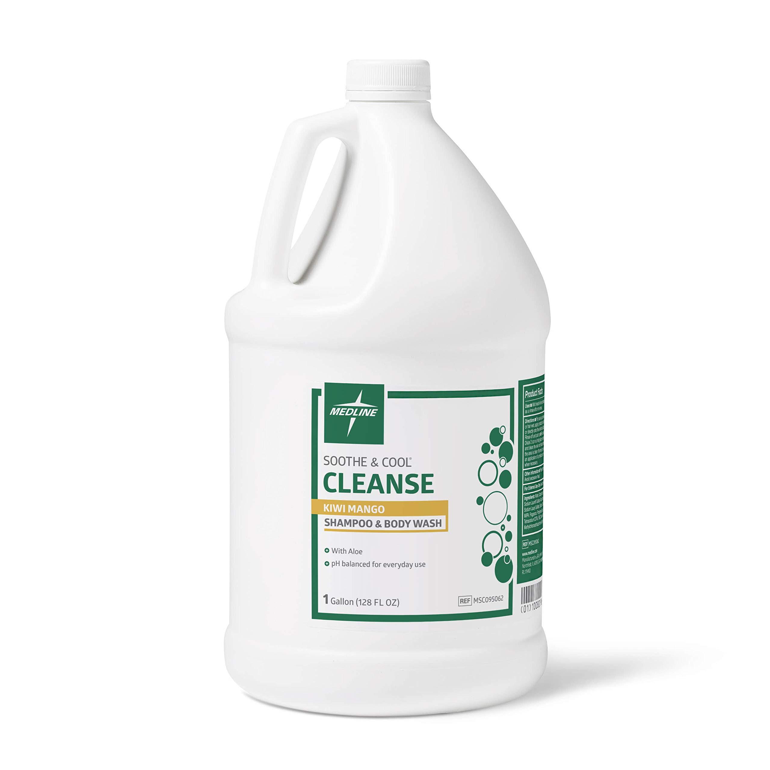 Medline MSC095062 Fragranced Shampoo and Body Wash, Kiwi Mango Scent, 128 oz (Pack of 4)