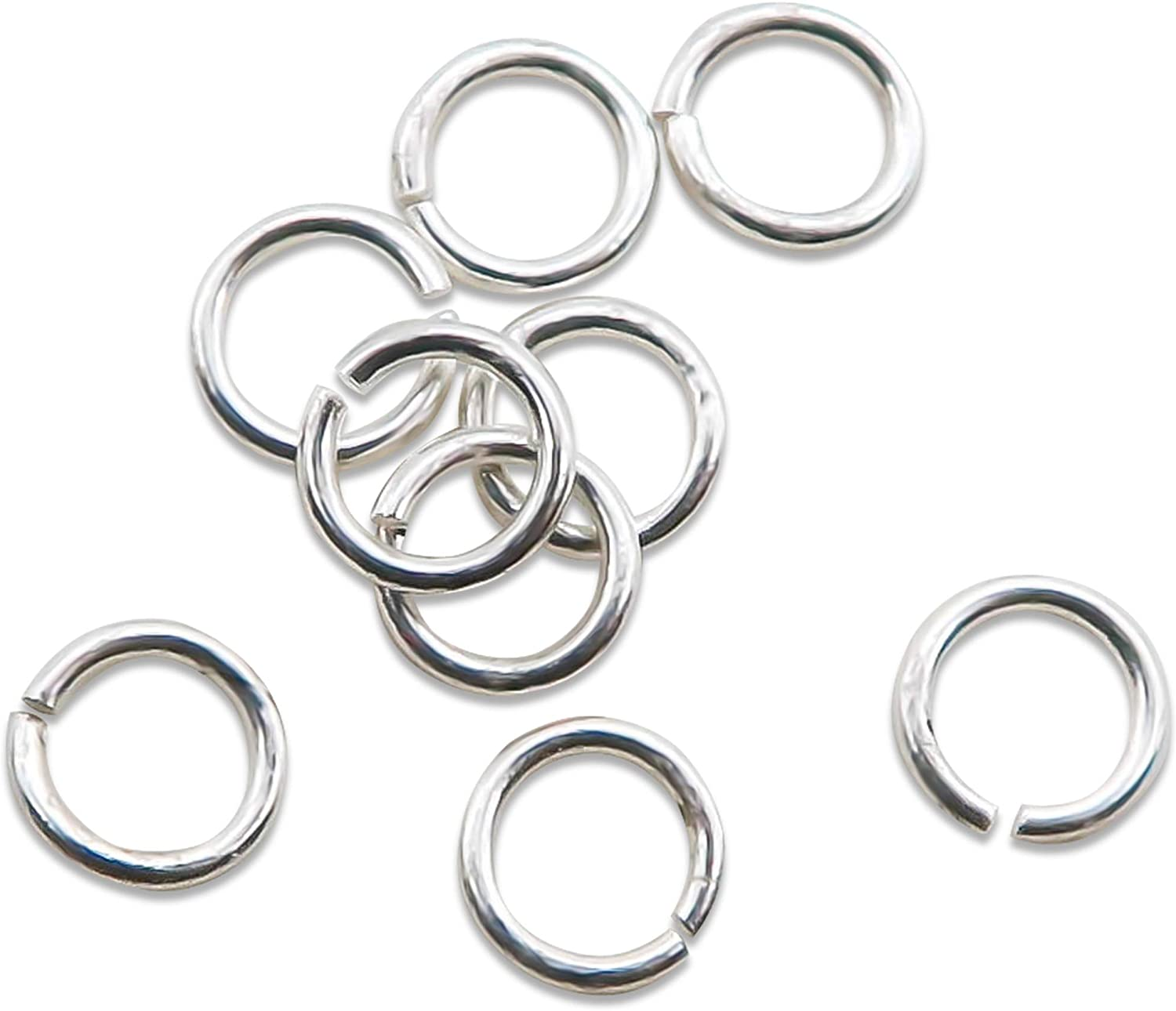 TOAOB 50pcs Earring Hooks and 50pcs 925 Sterling Silver 4mm Open Jump Rings Hypo-allergenic Starter Kit for Jewelry Making Supplies