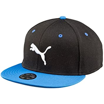 cbd08716579 Puma Basic Stretch Fit Cap - Black Strong Blue  Amazon.co.uk  Sports ...
